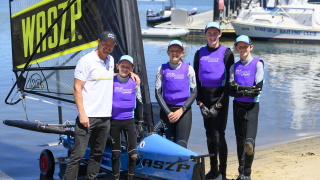 Tom Slingsby helps launch SailGP Inspire Racing in partnership with WASZP