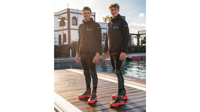 Spain SailGP Team members Diego Botin and Florian Trittel sport the new Camper shoe as part a new pa