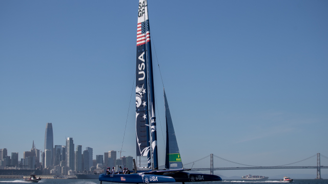 U.S. SailGP Team unveils all-new design featuring Lady Liberty on San Francisco Bay