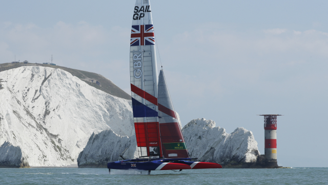 The Great Britain SailGP Team hit the water for the first time today, sailing past The Needles, ahea