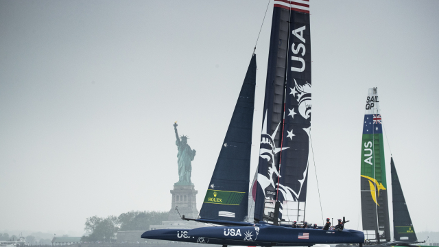 The six national teams hit the Hudson for the first time