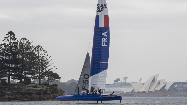 France SailGP Team's F50 Launches in Sydney