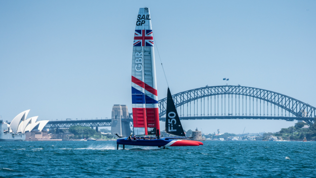 The Great Britain SailGP Team boat takes flight
