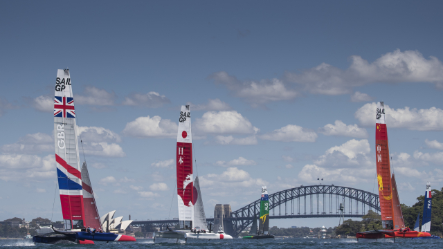 SailGP F50s took over Sydney Harbour