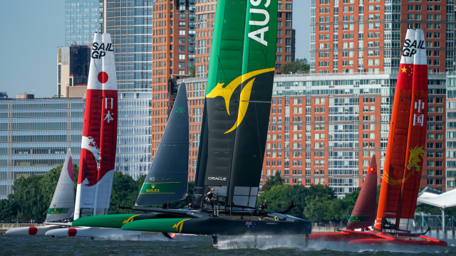 F50s fly on the Hudson for first time.
