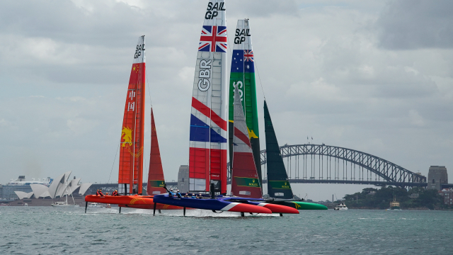 Great Britain, China and Australia get some final practise ahead of the first day of SailGP