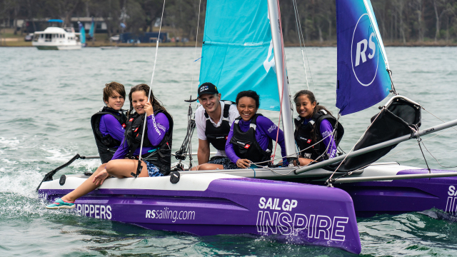 Kyle Langford sails with young people in Australia as part of the Inspire Learning program