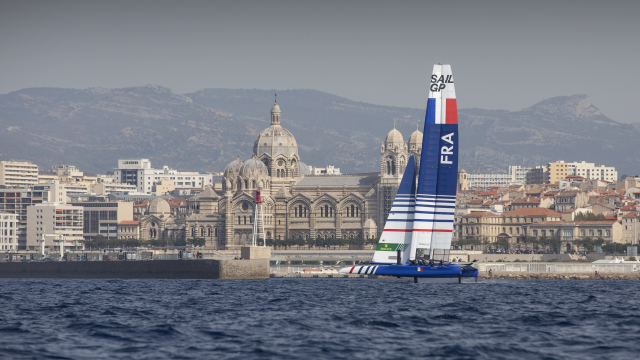 Billy Besson's French team is first to sail in Marseille